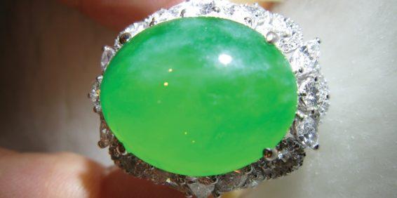 Figure 2. Fine jadeite ring. Photo: Kehan Li.