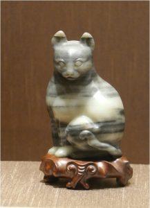 Figure 1. Nephrite jade cat, Suzhou Museum.
